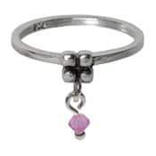 Charmins ring 092 hangende zirkonia melkpaars