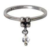 Charmins ring 095 hangende zirkonia wit