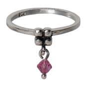 Charmins ring 096 hangende zirkonia rose