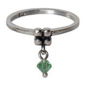 Charmins ring 097 hangende zirkonia groen