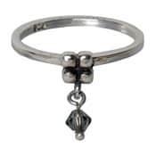 Charmins ring 098 hangende zirkonia grijs