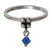 Charmins ring 100 hangende zirkonia saffier