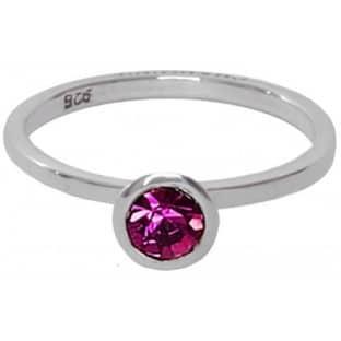 Charmins ring 141 zirkonia donker rose