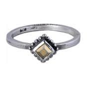 Charmins ring 144 goudkleurige ruit