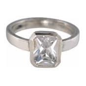 Charmins XL ring XL05 diamantvormige zirkonia