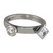 Charmins XL ring XL06 witte zirkonia