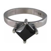 Charmins XL ring XL09 zwarte zirkonia