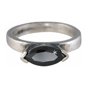 Charmins XL ring XL10 zwarte zirkonia