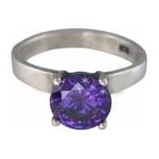 Charmins XL ring XL14 paarse zirkonia