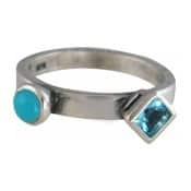 Charmins XL ring XL20 blauwe zirkonia