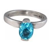 Charmins XL ring XL21 blauwe zirkonia