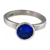 Charmins XL ring XL22 donkerblauwe zirkonia