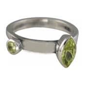 Charmins XL ring XL25 groene zirkonia