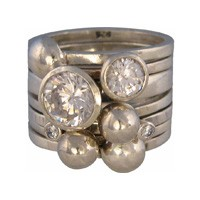 Charmins XL ringencombinatie XL1006 round diamond white combi