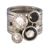 Charmins XL ringencombinatie XL1009 round black & white combi