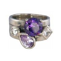 Charmins XL ringencombinatie XL1026 lilac purple & white combi