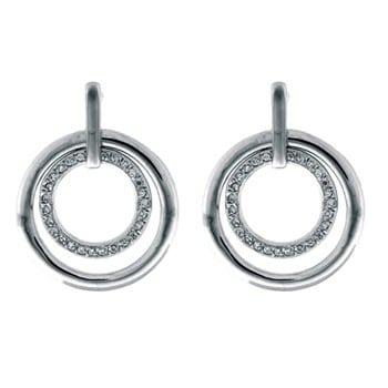 Luxenter oorhangers O118 met zirkonia
