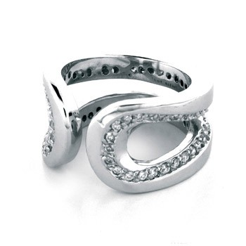 Luxenter ring R125 met zirkonia