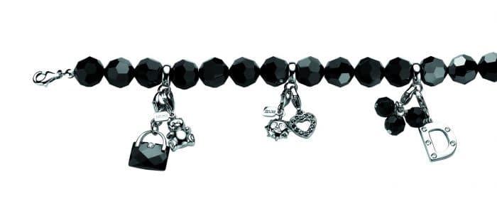 Zinzi armband voor charms 10mm zwart CH-A13Z