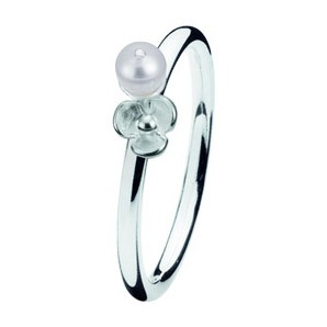 Spinning ring 114-05 Flora pearl