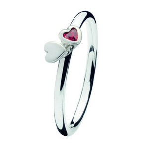 Spinning ring 139-06 Kissing hearts