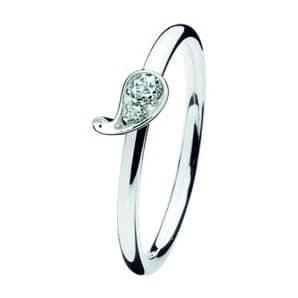 Spinning ring 155-09 Paisley white