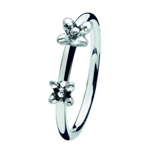 Spinning ring 160-00 Twin flowers