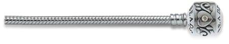 Goede doel armband met zilveren knopsluiting