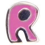570.R letter R roze emaille (for kids)