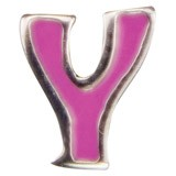 570.Y letter Y roze emaille (for kids)