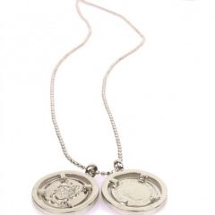 Tov Essentials collier 715 met 2 munten lichtgoud