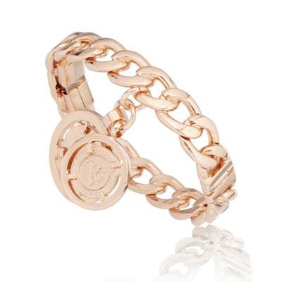 Tov Essentials armband 888 open/closable chained bangle rose
