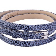Joy de la Luz leren armband buckle stingray blauw