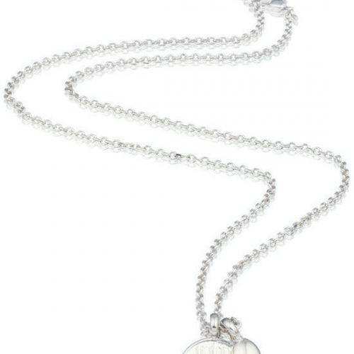 Tov Essentials ketting 919 necklace heart coin and pearls silver