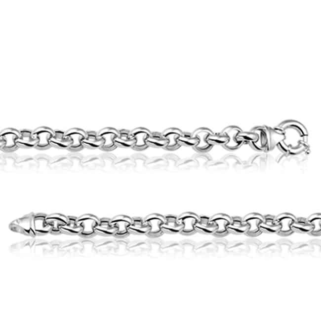 Zilveren collier jasseron 8 mm