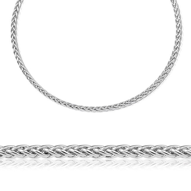 Zilveren collier, 45 cm