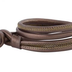 Leather bracelet bronze