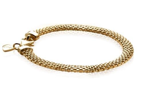 Zinzi zilveren fantasie armband geelgoud ZIA879G