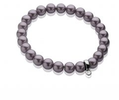 Zinzi Charms rek-armband one-size paarse parels CH-A20P