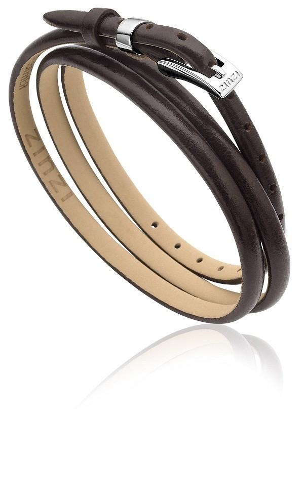 Zinzi leren wikkelarmband bruin one-size ZIA945BR