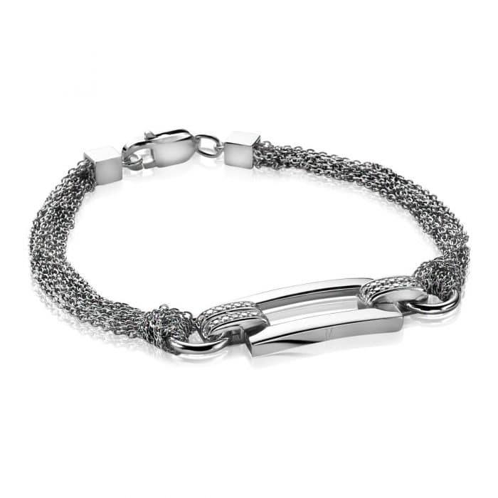 Mart Visser by ZINZI zilveren fantasie armband glad MVA4