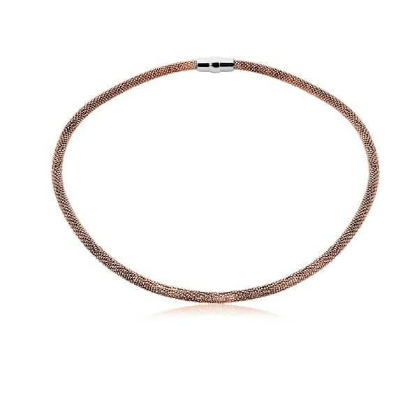Zinzi strak zilveren collier roségoud ZIC681R