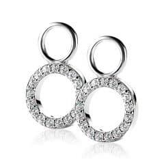 ZINZI zilveren creoolhangers rond open wit 9mm ZICH1063