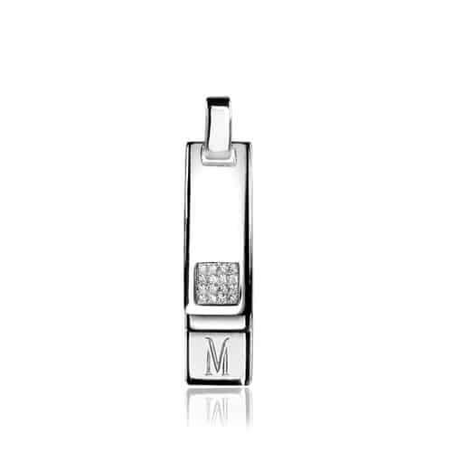 Mart Visser by ZINZI zilveren hanger glad MVH5