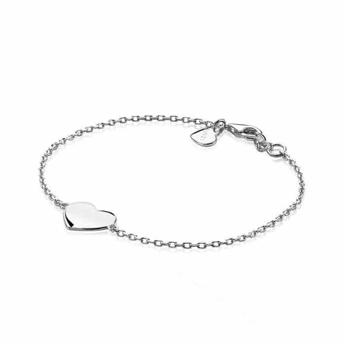 Zinzi zilveren armband hart 17-19cm ZIA1307