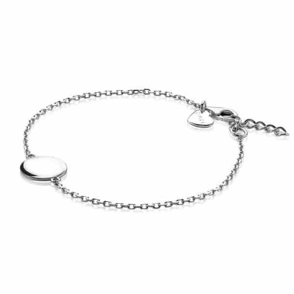 Zinzi zilveren armband rond plaatje 17-19cm ZIA1306