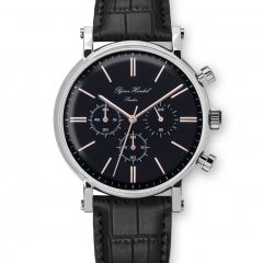 Björn Hendal Chronograaf Steel Black Croco