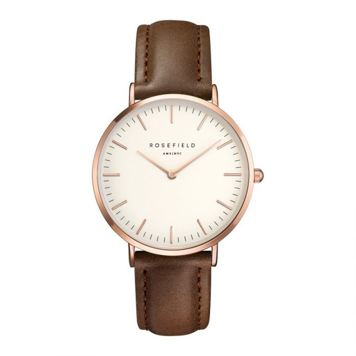 Rosefield The Bowery White Brown rosegold