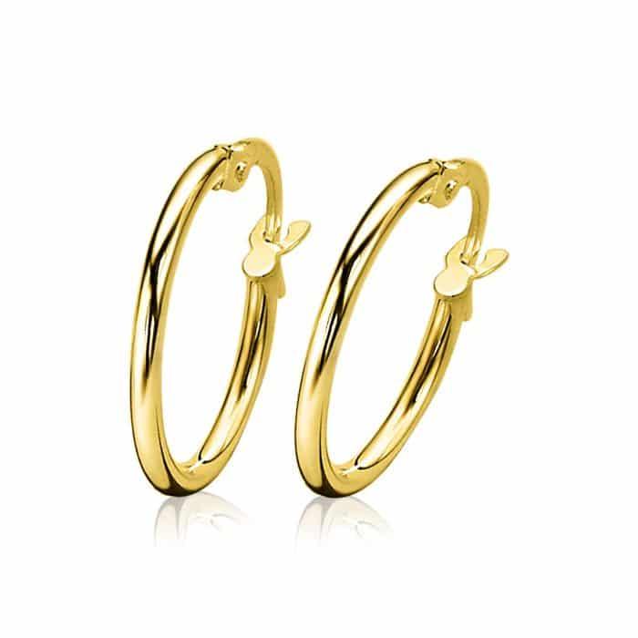 ZINZI Gold 14 karaat gouden creolen