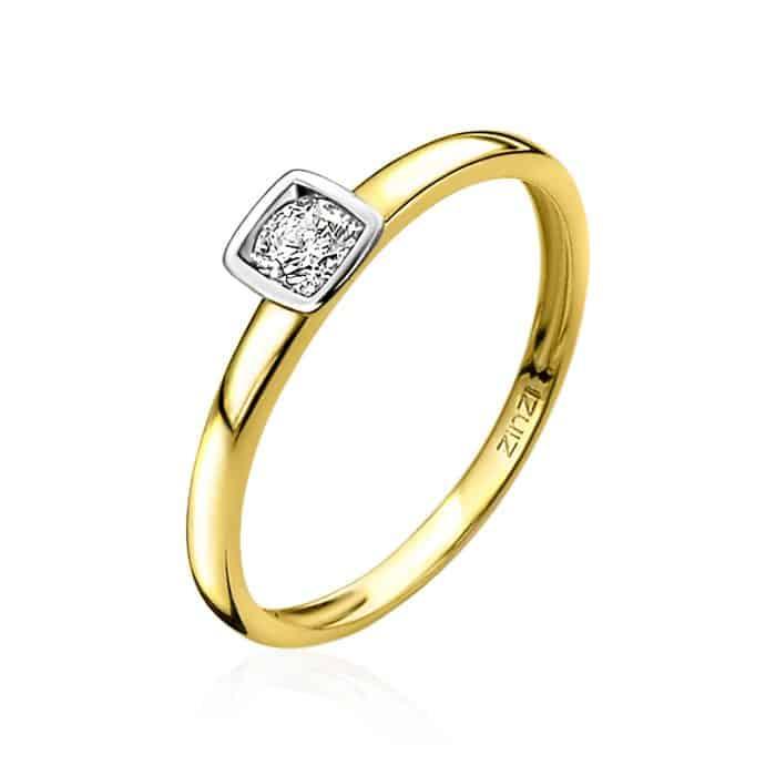 Zinzi gouden ring ZGR150